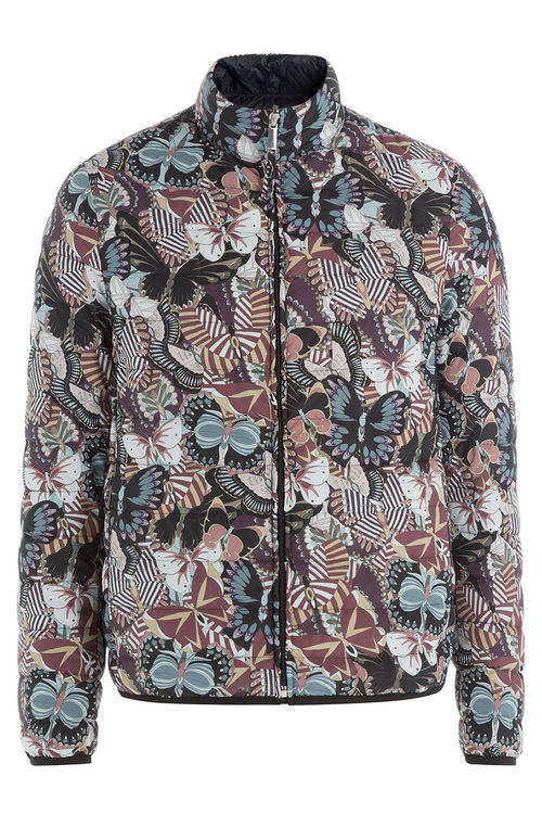 Valentino Printed Down Jacket In Multicolored