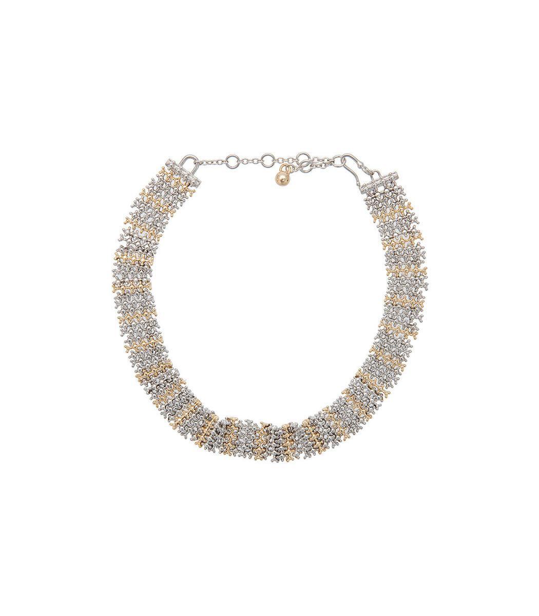 Eddie Borgo Metallic Contrast Collar Necklace