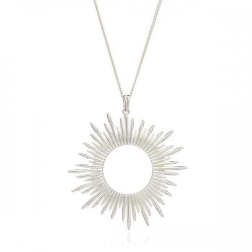Rachel Jackson London Sunrays Long Necklace In Silver