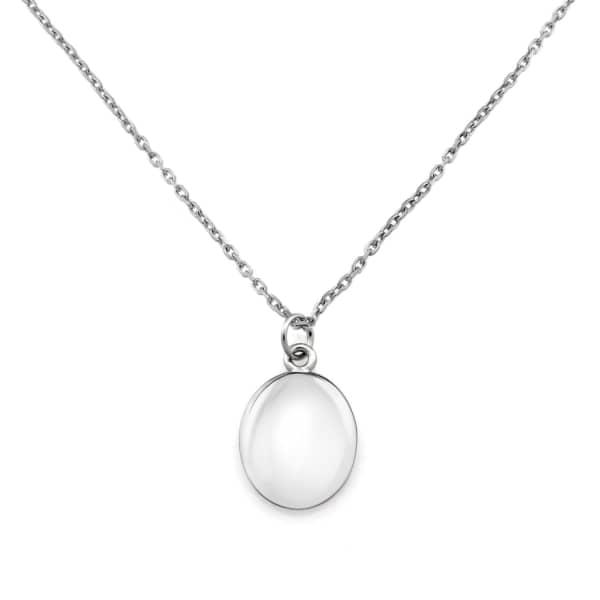 Monarc Jewellery Signature Initial Coin Necklace Sterling Silver