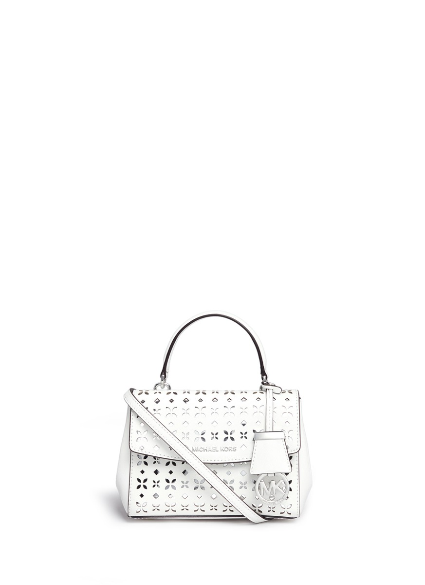 759f2d920c4d Michael Kors 'Ava' Extra Small Perforated Leather Crossbody Bag ...