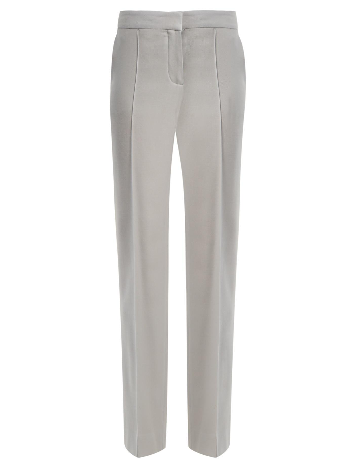 8d6384d10338d Stella Mccartney - Anna Mid Rise Straight Leg Wool Trousers - Womens -  Light Blue