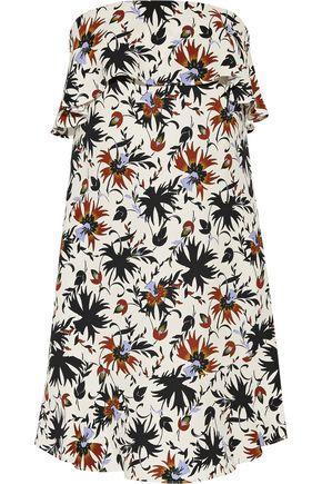 A.L.C Woman Romy Ruffled Printed Silk Crepe De Chine Mini Dress Multicolor