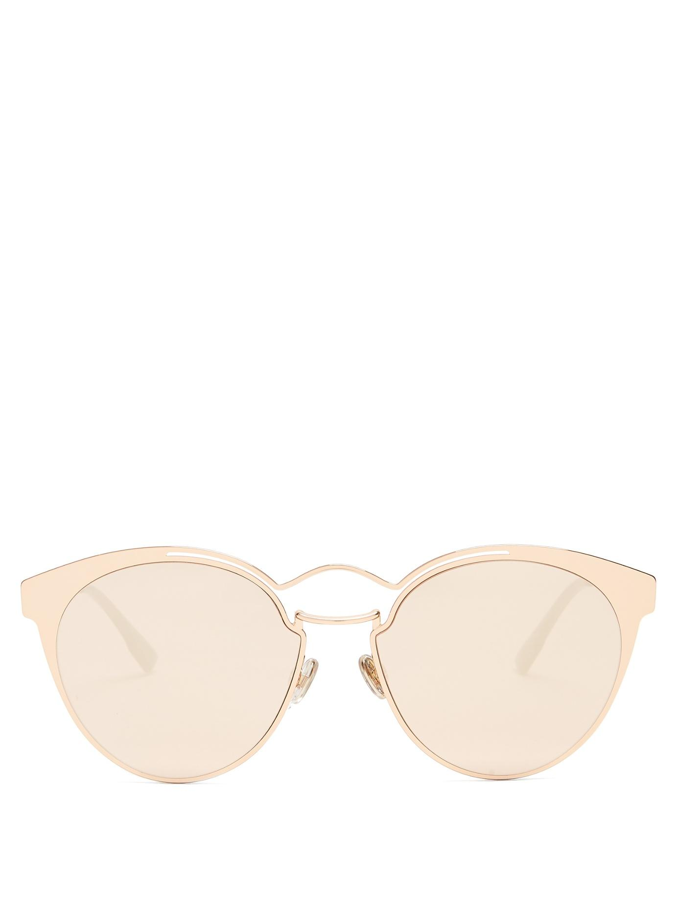 979336fb1e2e Dior Eyewear - Nebula Cat Eye Metal Sunglasses - Womens - Gold ...
