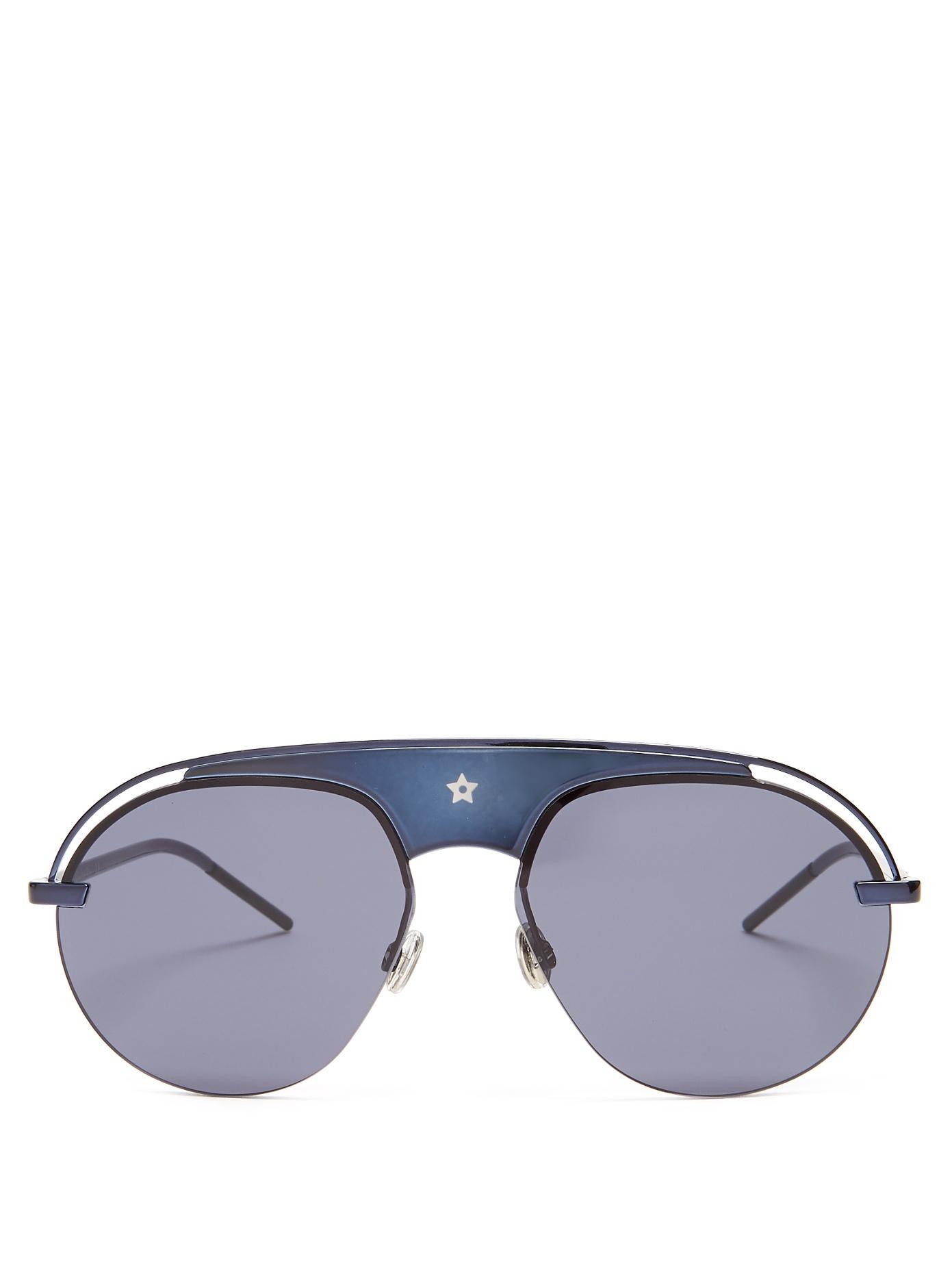 40ab3e4673f4 Dior Eyewear - Evolution Aviator Sunglasses - Womens - Blue | ModeSens