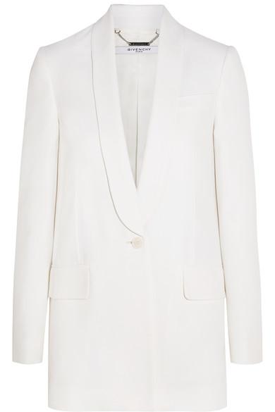 Givenchy Woman Blazer In White Crepe White