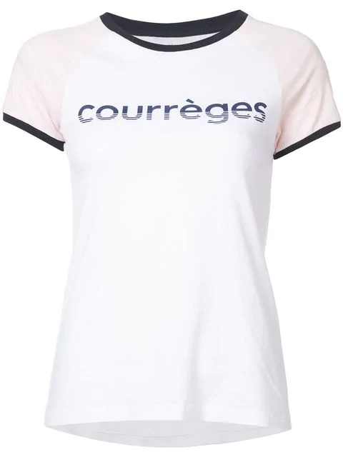 CourrÈGes Courreges Tricolor Vintage Logo T-Shirt In White