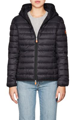 Save The Duck Channel-Quilted Tech-Fabric Jacket - 70 Charcoal In Black/01