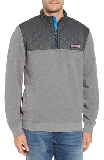 Vineyard Vines Shep Performance Quilted Yoke Quarter Zip