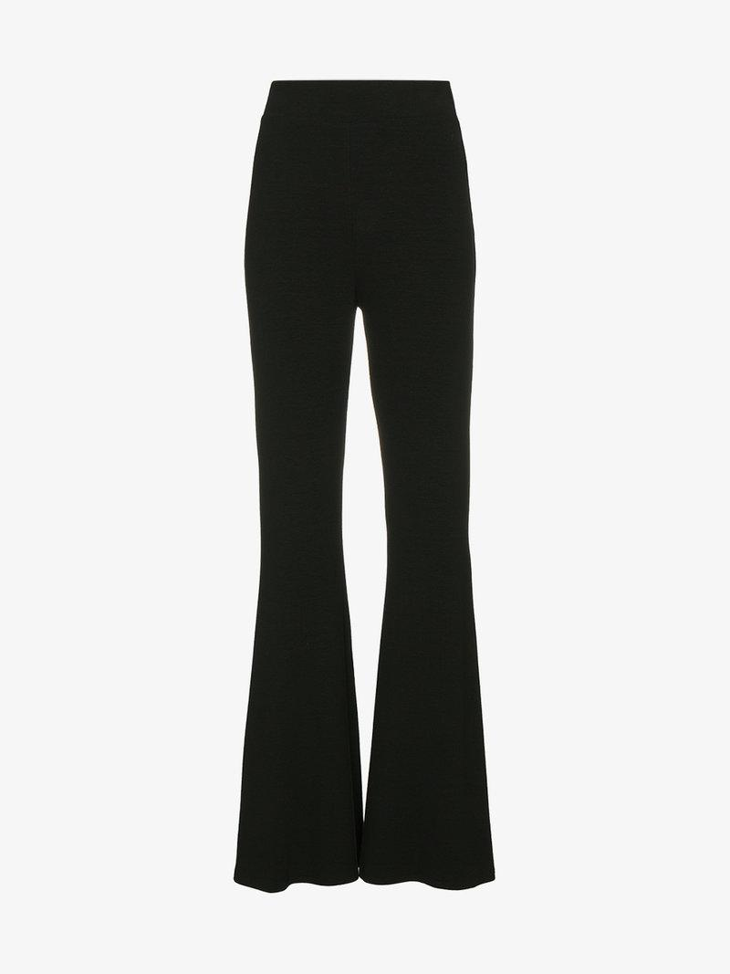 Beaufille High Waisted Flared Trousers - Black