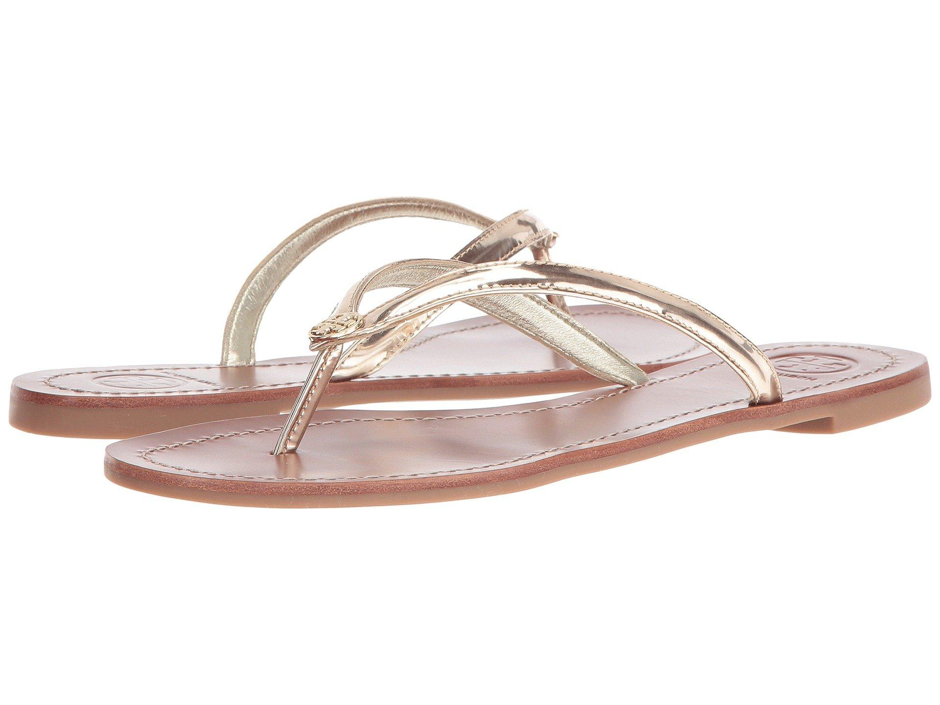 4fe81c247 Tory Burch Terra Thong In Spark Gold