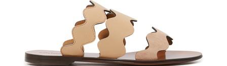 ChloÉ Lauren Suede & Leather Slide Sandals In Multi