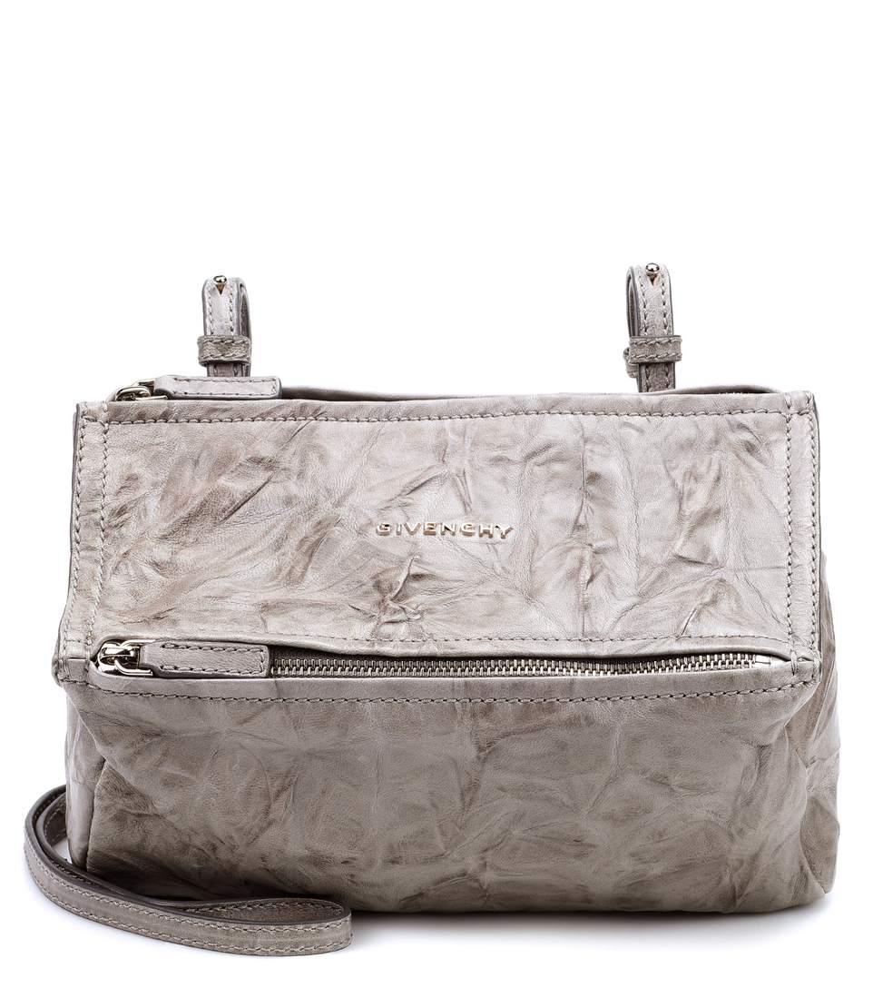 Givenchy Pandora Mini Leather Shoulder Bag In Grey  f14fff5090b04