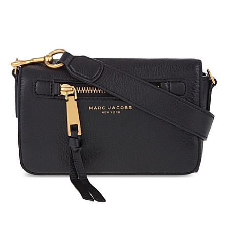 7c2ac696bb75 Marc Jacobs Recruit Leather Cross-Body Bag In Black