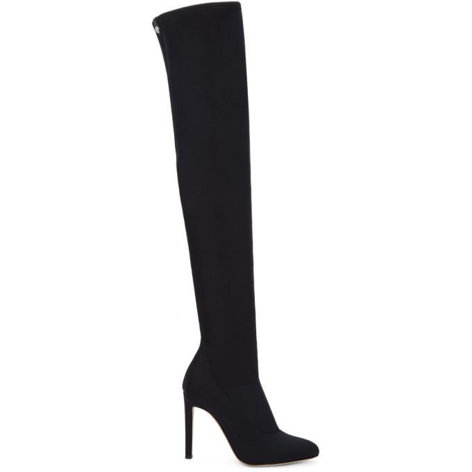 8242566e2d007 Giuseppe Zanotti Ssense Exclusive Black Bimba Over-The-Knee Boots ...