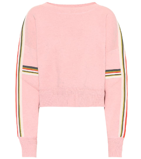 Etoile Isabel Marant Kao Striped Cotton And Wool-Blend Jumper, Fr42 In Pink