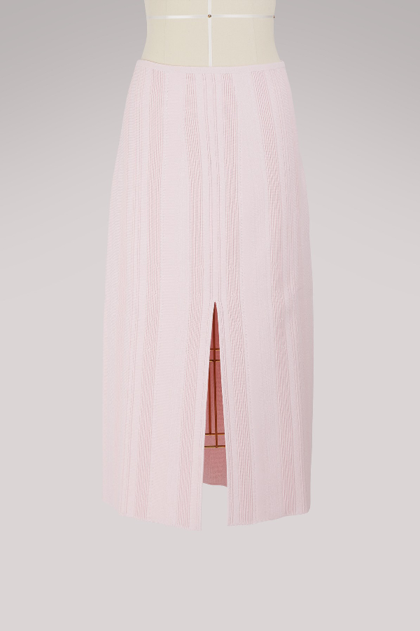 5e8429b352 Proenza Schouler Ribbed Stretch-Knit Midi Skirt In Baby Pink | ModeSens