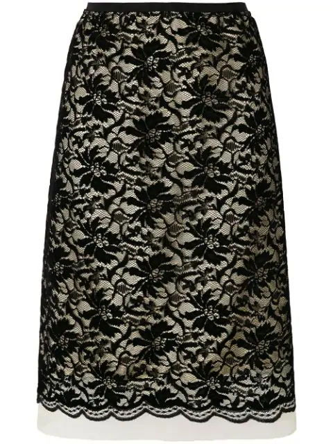 3f6a522e54 Marc Jacobs Lace Overlay Skirt In Black | ModeSens