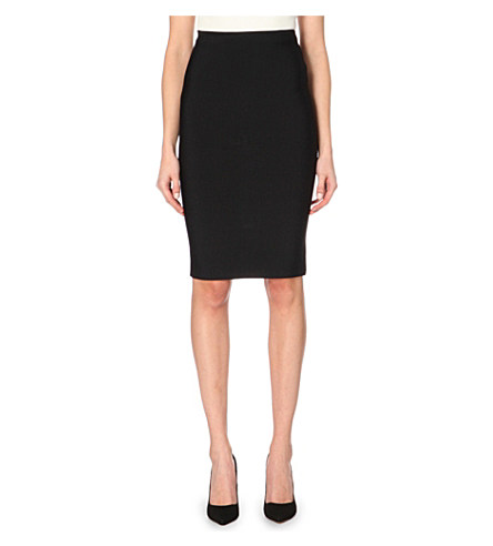 Roland Mouret Fitted Pencil Skirt In Black