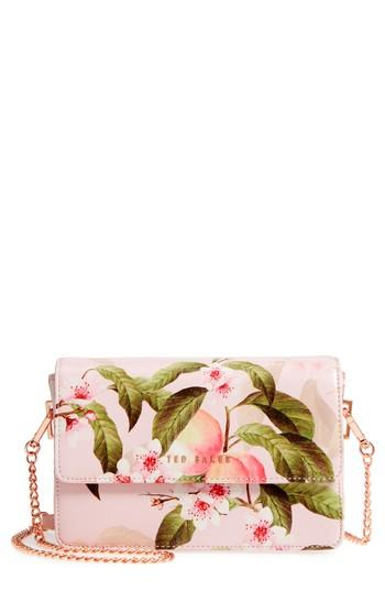 4218c1a6175 Ted Baker Disha Peach Blossom Faux Leather Crossbody Bag - Pink In Light  Pink