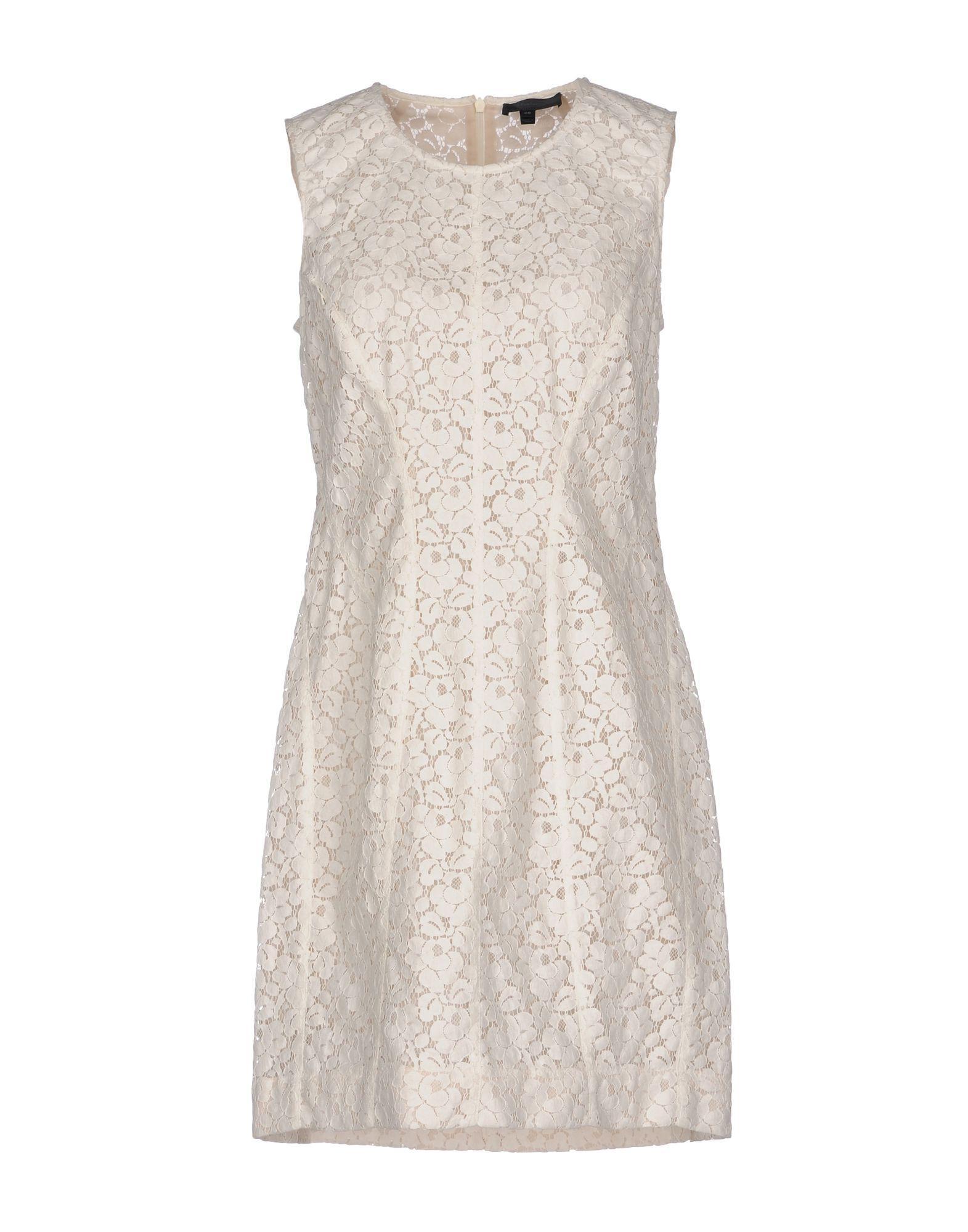 Belstaff Short Dress In Ivory
