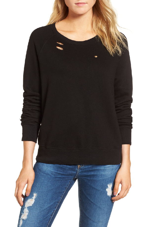 N:philanthropy Belize Deconstructed Sweatshirt In Black Cat