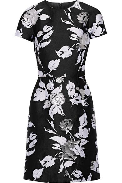 Michael Kors Woman Jacquard Mini Dress Black