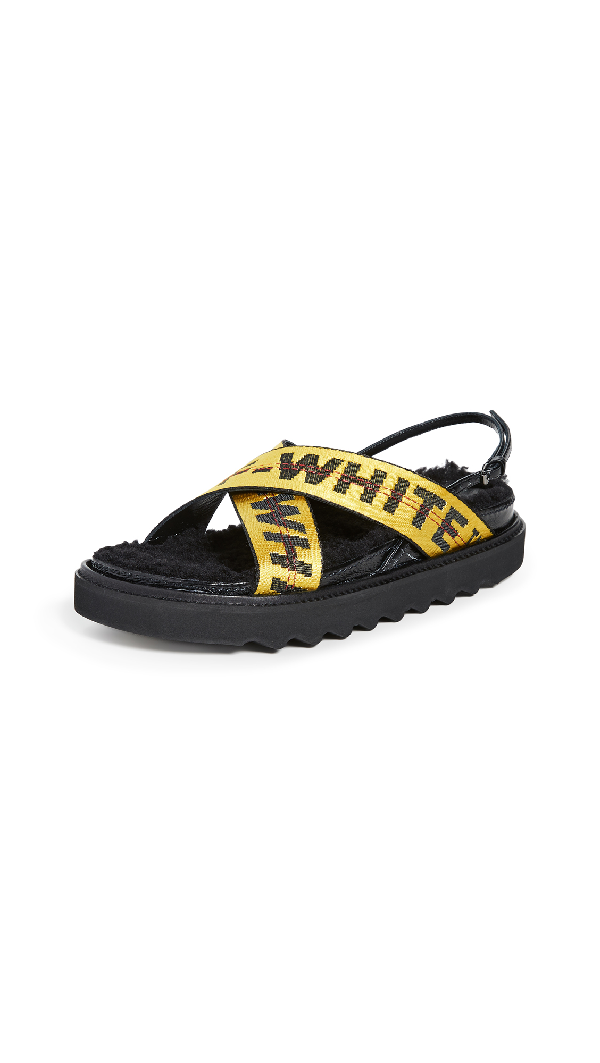 Off-White Off White C/O Virgil Abloh Women's Yellow Industrial Belt Sandals In Multi