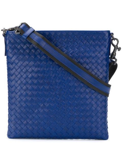 02fad6c10b Bottega Veneta Cobalt Blue Intrecciato Small Messenger Bag