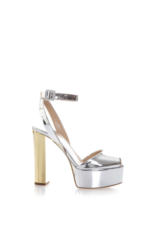 b34d5fd9528 Giuseppe Zanotti Betty Metallic Leather Sandals In Silver-Gold ...