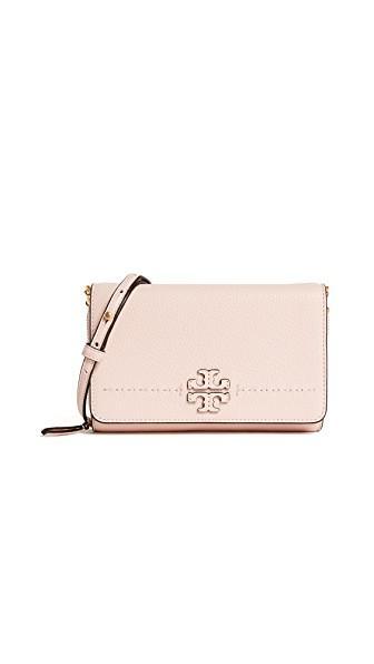 8dde3c9ebc Tory Burch Mcgraw Flat Wallet Cross Body Bag In Pink Quartz   ModeSens
