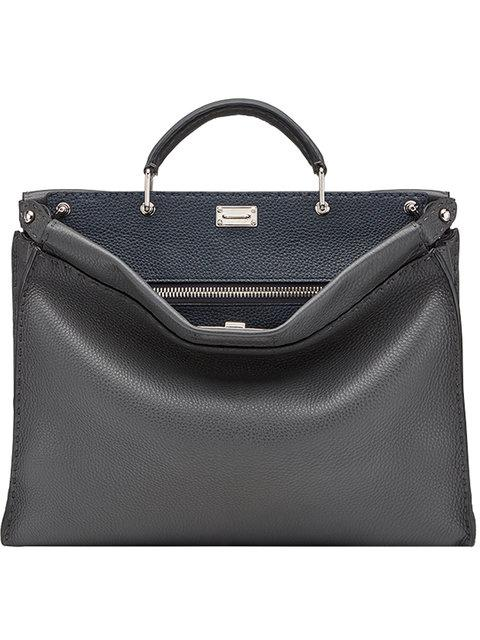 0d5845f0156 Fendi Peekaboo Fit Tote Bag - Brown In Grey | ModeSens