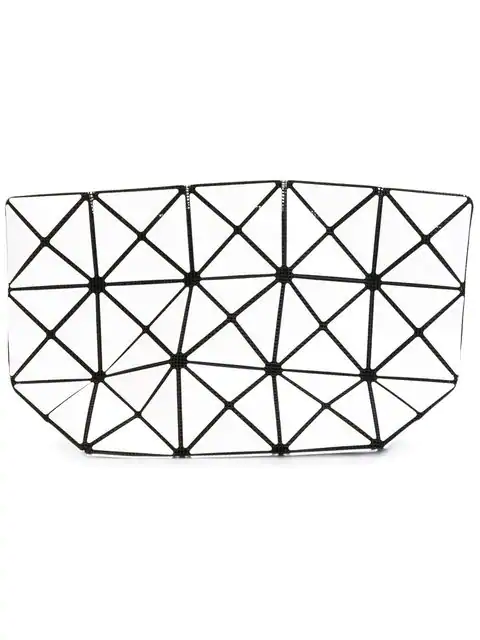 Bao Bao Issey Miyake Prism Top-Zip Pouch In White