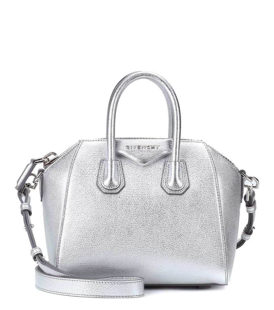 a624038c66 Givenchy Antigona Mini Leather Shoulder Bag In Silver | ModeSens