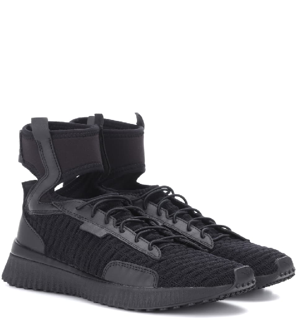 super specials classic style 100% top quality Fenty Puma X Rihanna Mid Top Ankle Cuff Sneakers in Black