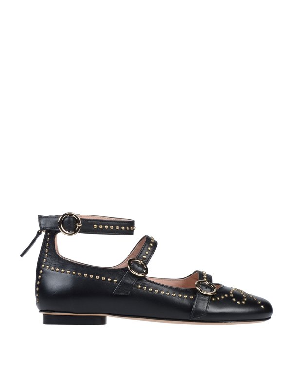 Boutique Moschino Ballet Flats In Black