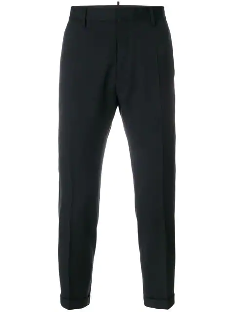 Dsquared2 Tailored Cropped Trousers In Black