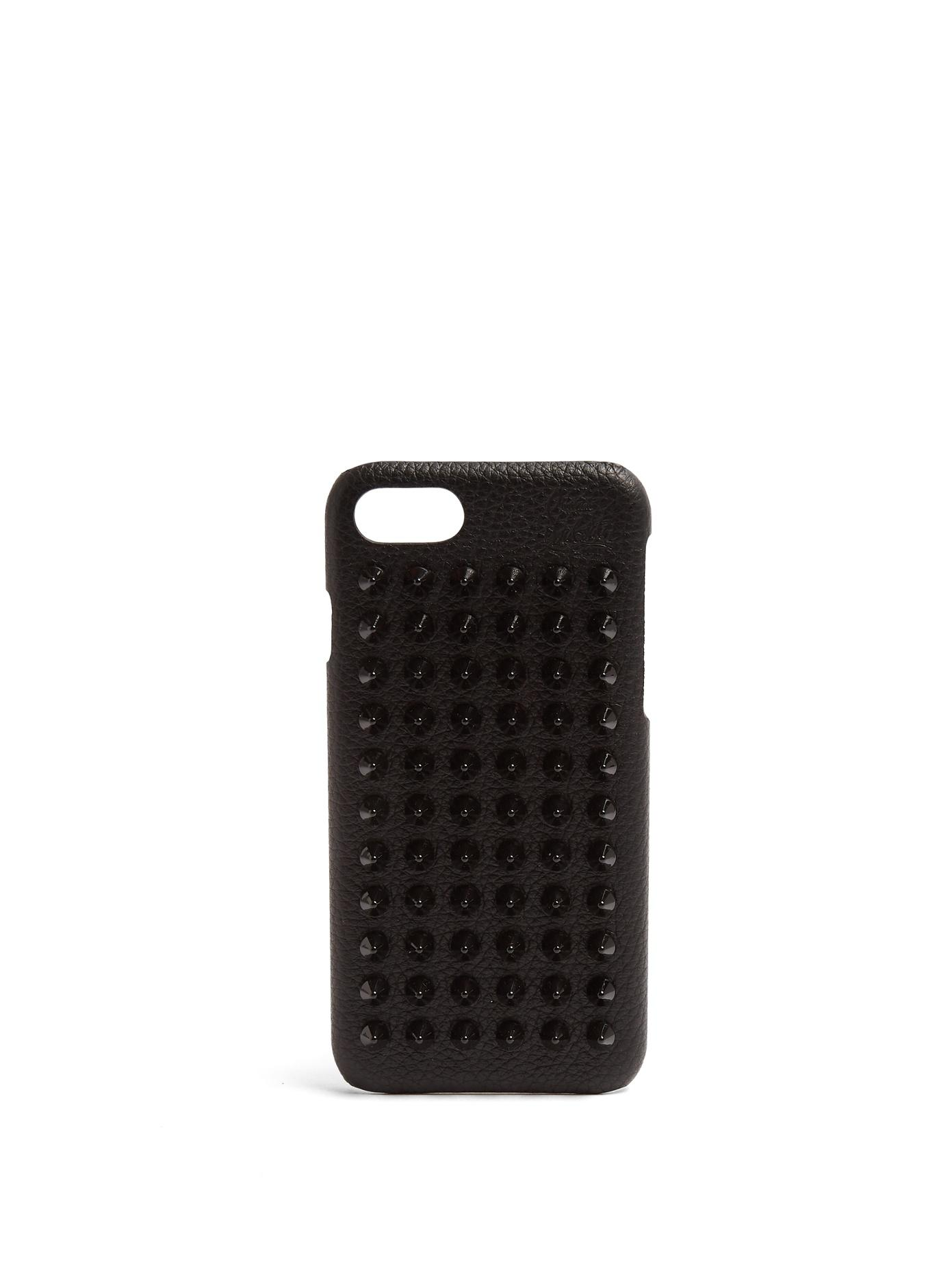 ca0dc0ec73a Loubiphone Studded Textured-Leather Iphone 7 Plus Case in Black