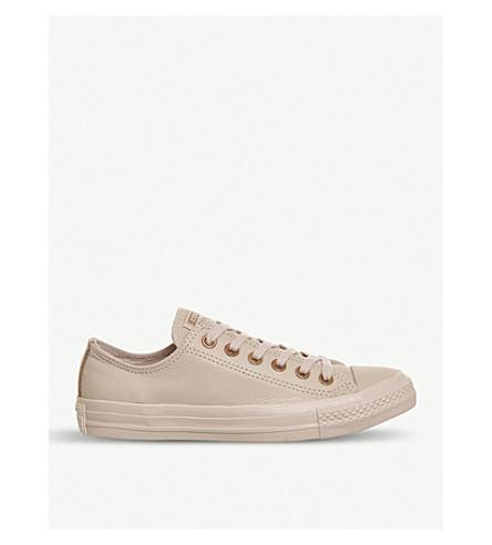 60fbb42322ee Converse All Star Low-Top Leather Trainers In Dusk Pink Rose Gold ...