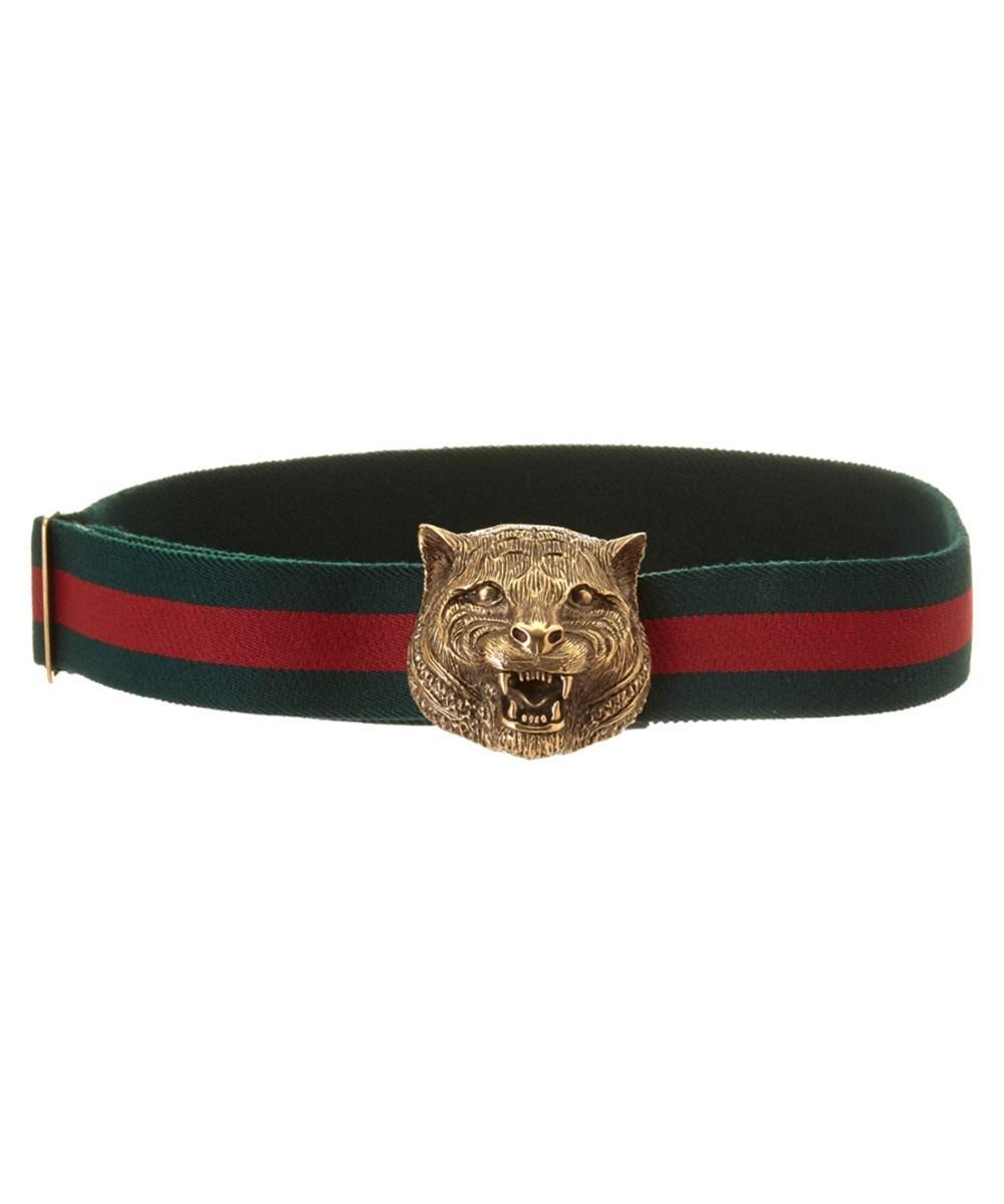 fdfce699b88 Gucci Feline Buckle Belt In Multi