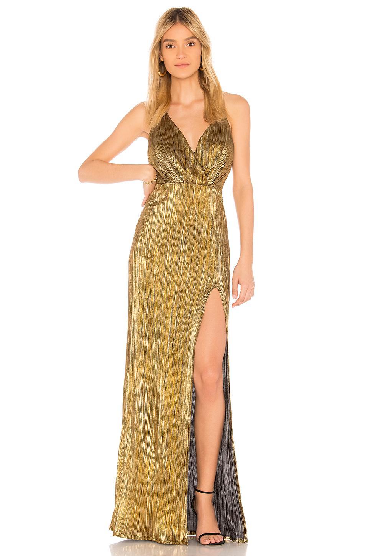 2049f98daed Donna Mizani Noah Dress In Metallic Gold