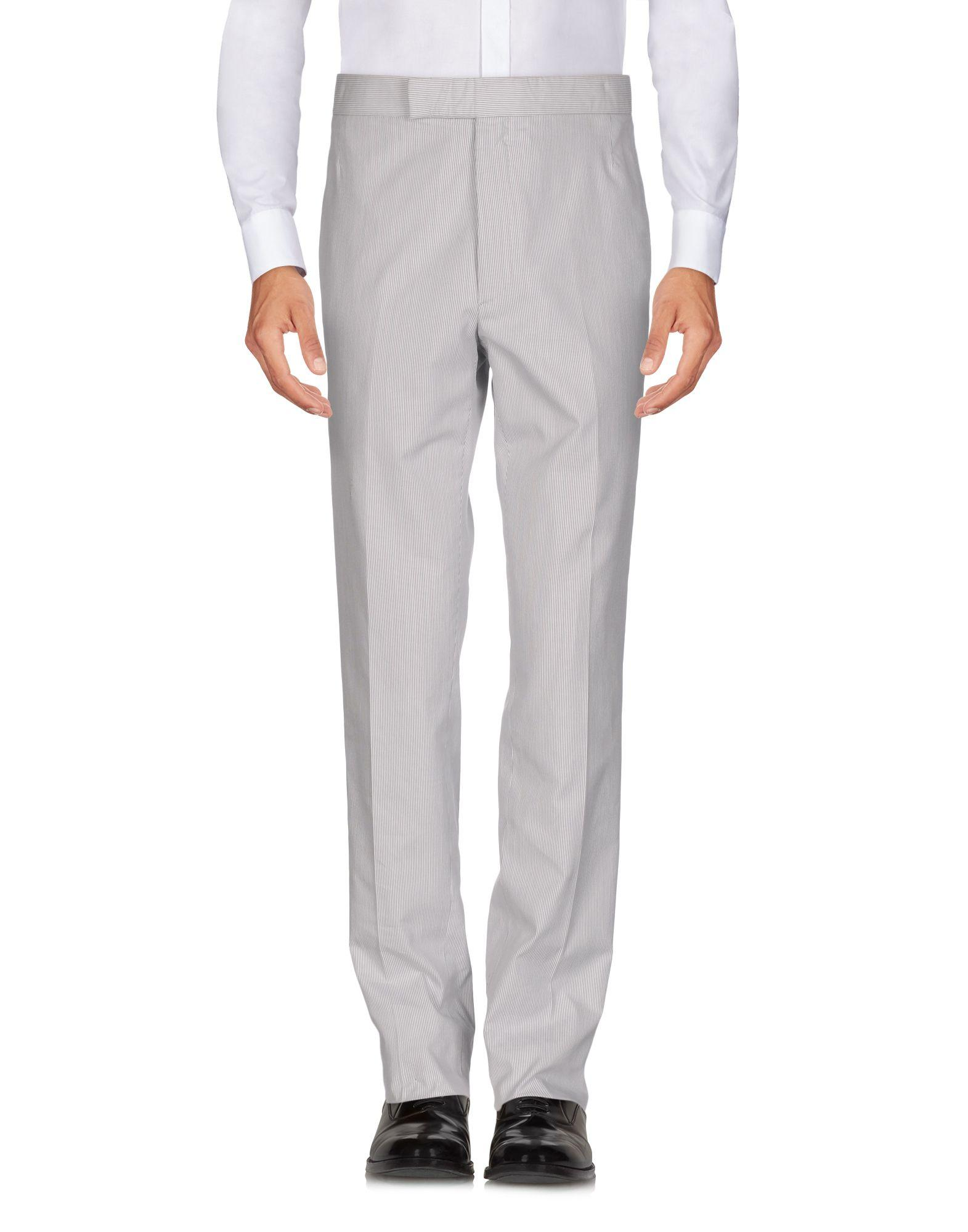 Thom Browne Casual Pants In Light Grey