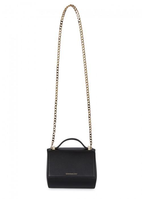 ec3656af7048a Givenchy Pandora Box Mini Textured-Leather Shoulder Bag In Black ...