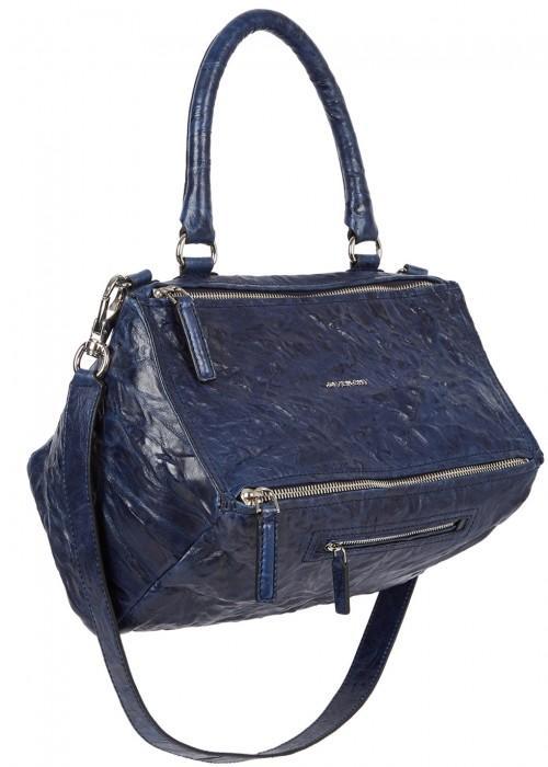 328aafd6d79 Givenchy Pandora Old Pepe Medium Leather Shoulder Bag In Navy