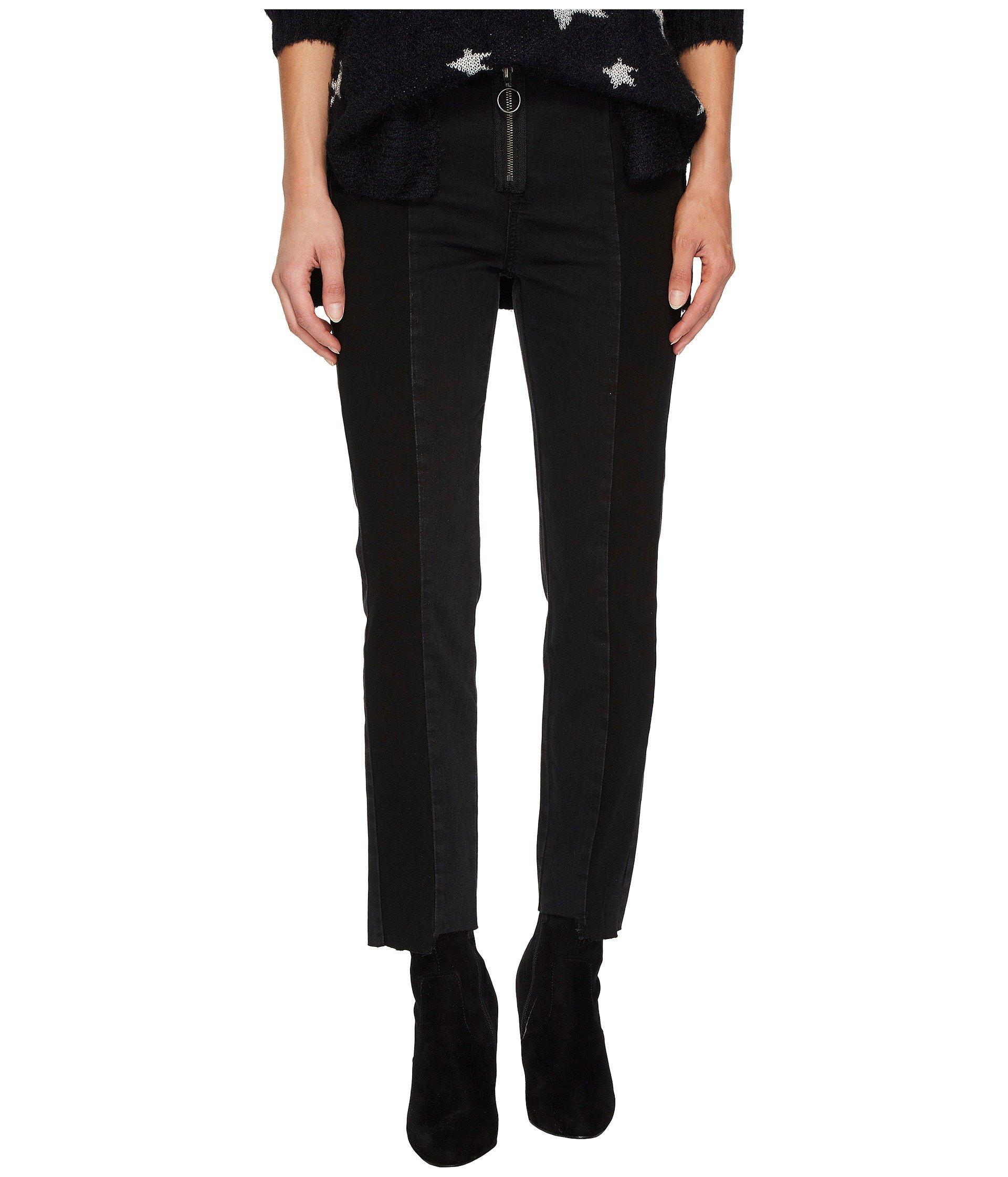 09e05162d1 Romeo & Juliet Couture Two-Tone Ring-Zip Ankle Jeans In Black | ModeSens