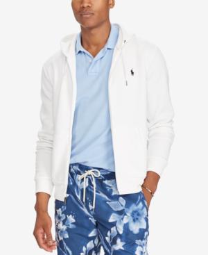 Polo Ralph Lauren Men's Double-Knit Full-Zip Hoodie In White