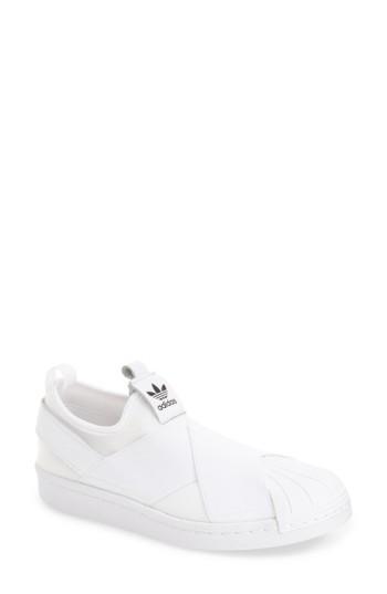 e44009f43db1 Adidas Originals Women s Superstar Slip-On Sneakers In Core Black  Core  Black  White
