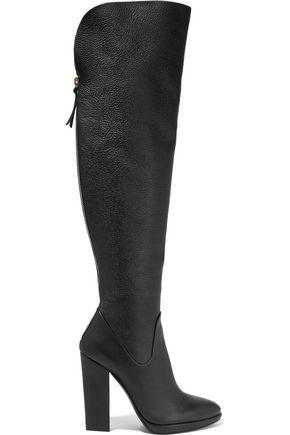 Giuseppe Zanotti Woman Textured-Leather Over-The-Knee Boots Black