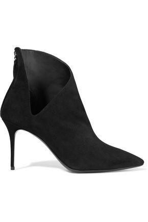 Giuseppe Zanotti Woman Cutout Suede Ankle Boots Black