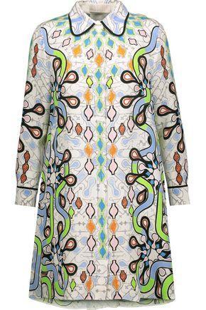 Peter Pilotto Woman Printed Silk-Crepe Mini Dress Multicolor
